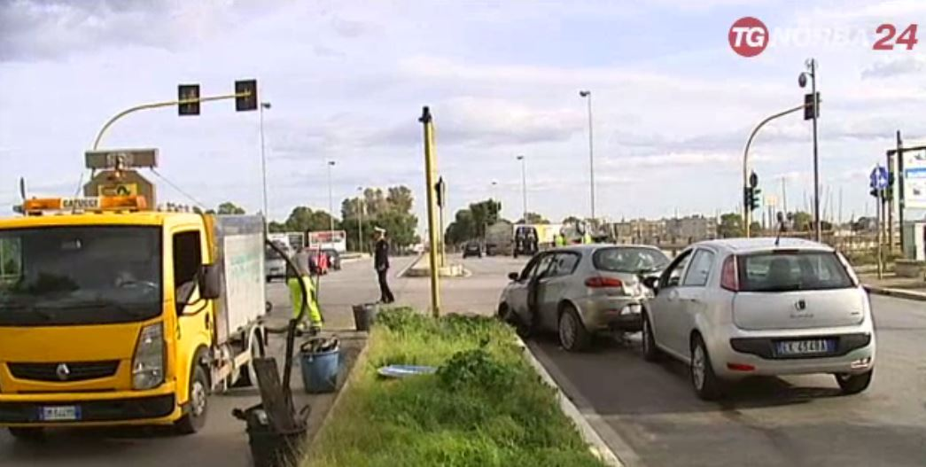 Bari, traffico in tilt per due incidenti