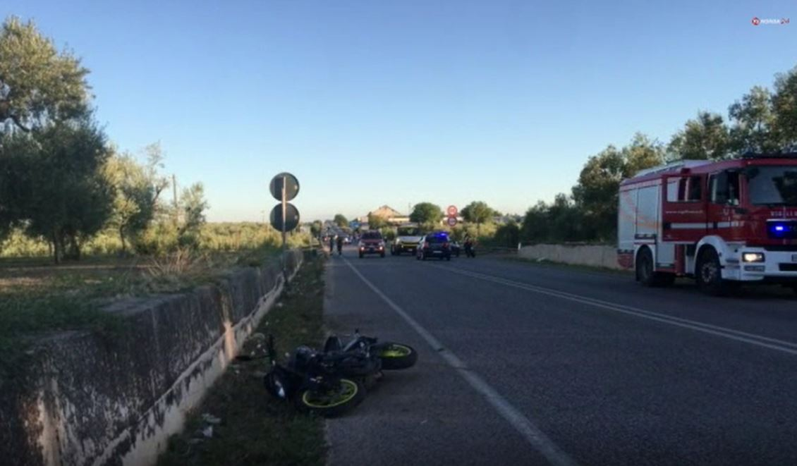 Trani, incidente con le moto: in due gi� dal viadotto