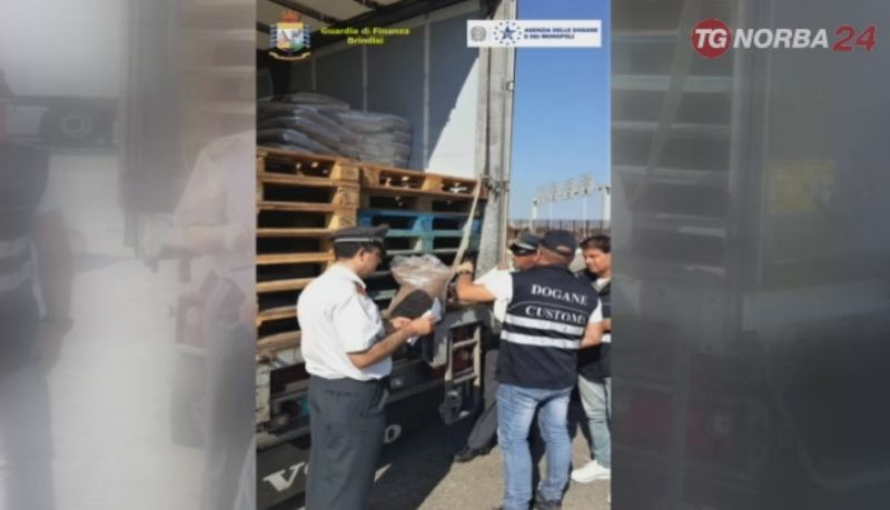 Brindisi: sequestrate 22 tonnellate pellet